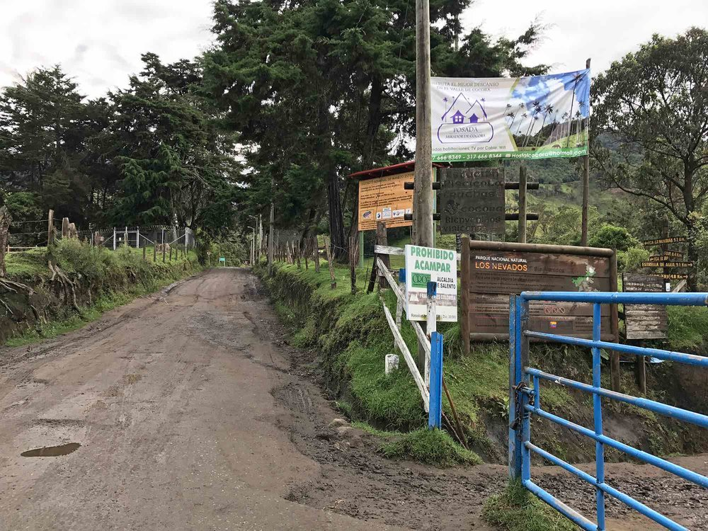Hiking trail entrance | Cocora Valley, Colombia