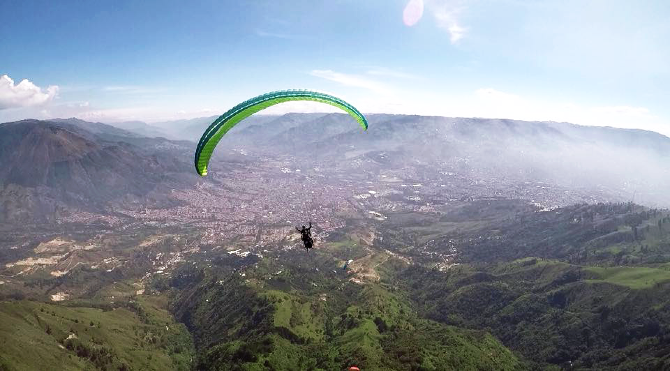 Paragliding Medellin Colombia