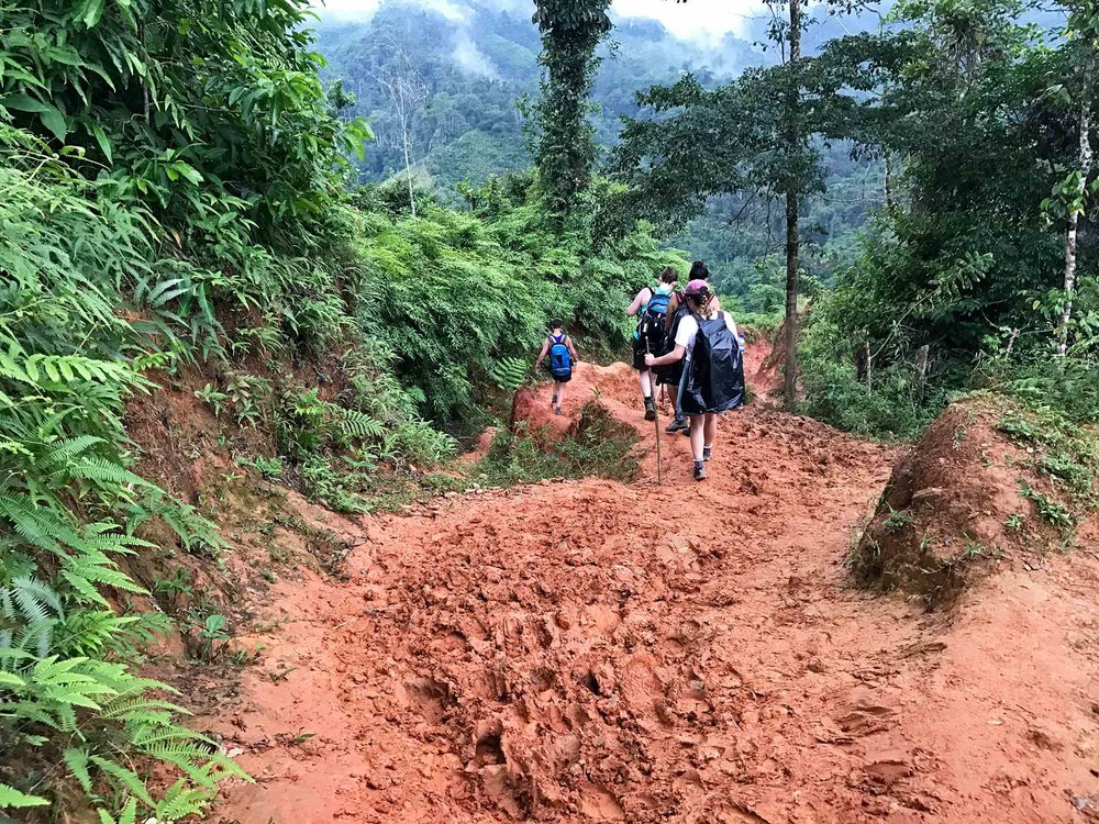 hiking through the mud | Lost City trek, Colombia
