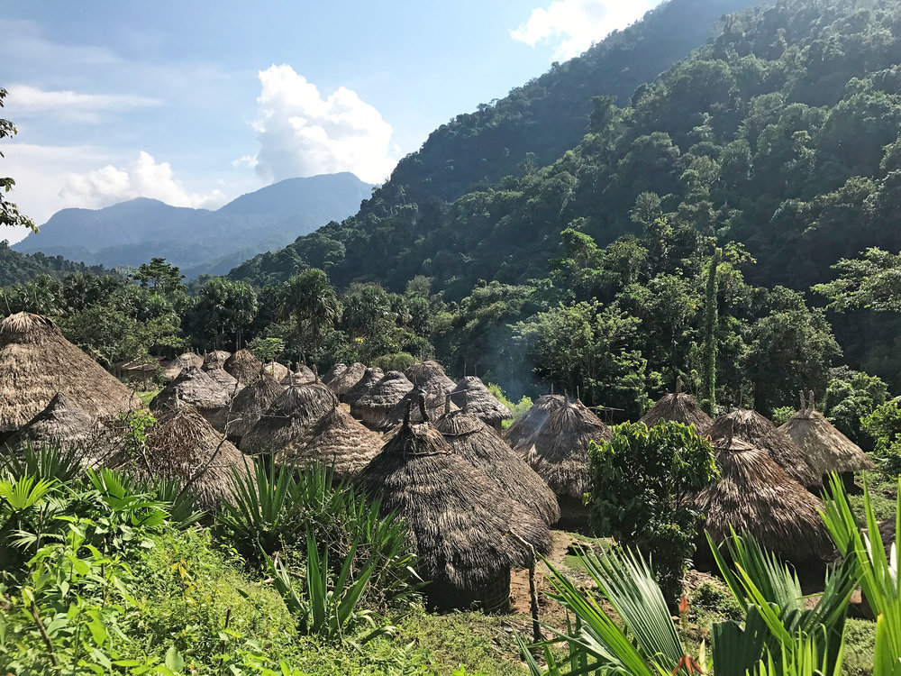 A Kogi village while trekking to the Lost City Colombia