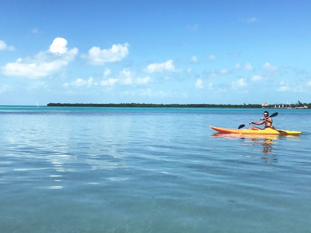 kayaking Caye Caulker belize
