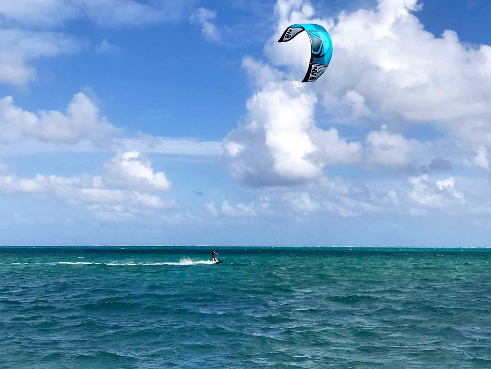 kiteboarding on Caye Caulker Belize