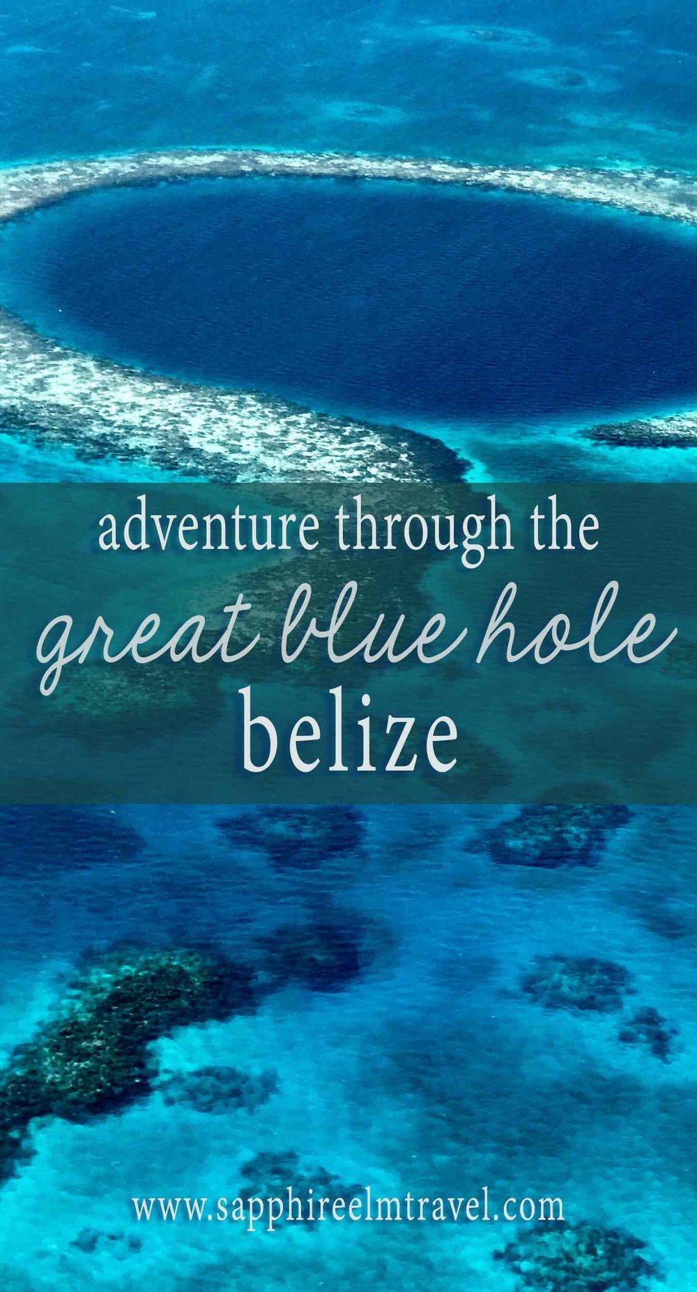 Adventure through the Great Blue Hole Belize