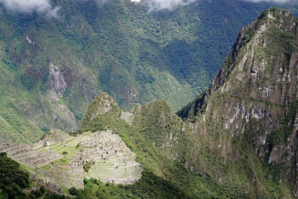 Machu Picchu Peru and Huayna Picchu Mountain