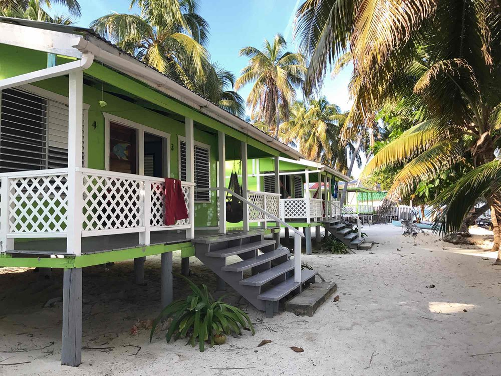 accommodations on Tobacco Caye | Sailing in Belize