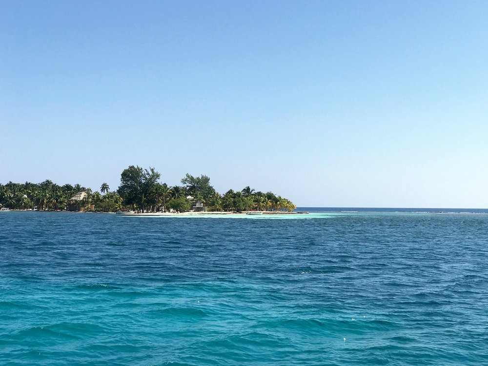 island while sailing Belize