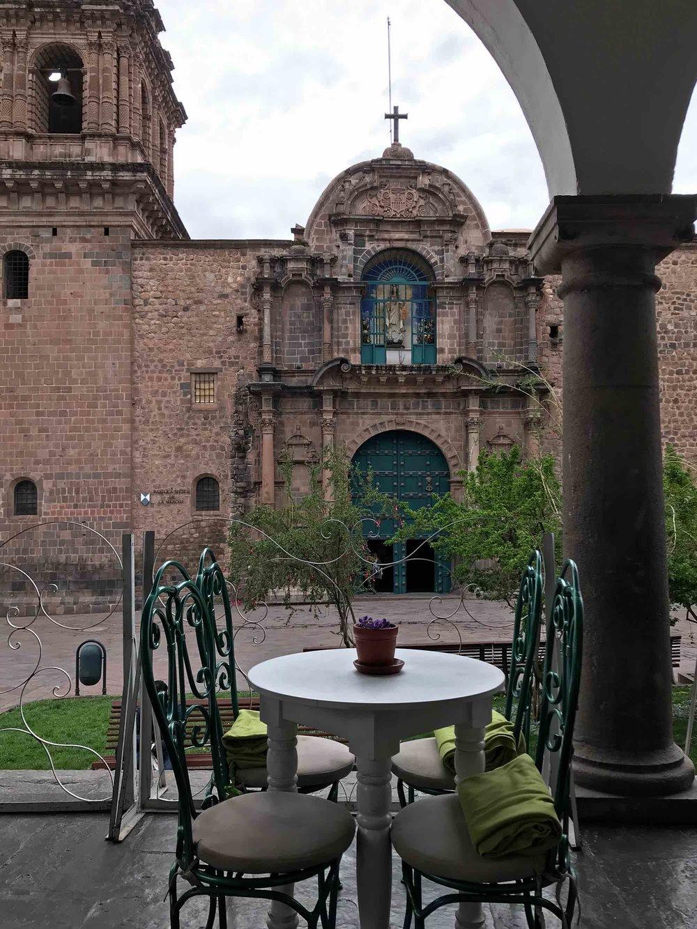 The patio at La Valeriana Cafe