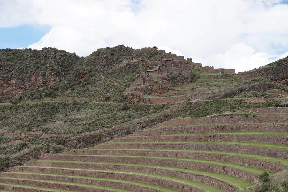 terraces at Pisac Inca ruins | Lesser Known Inca Sites in the Sacred Valley of Peru