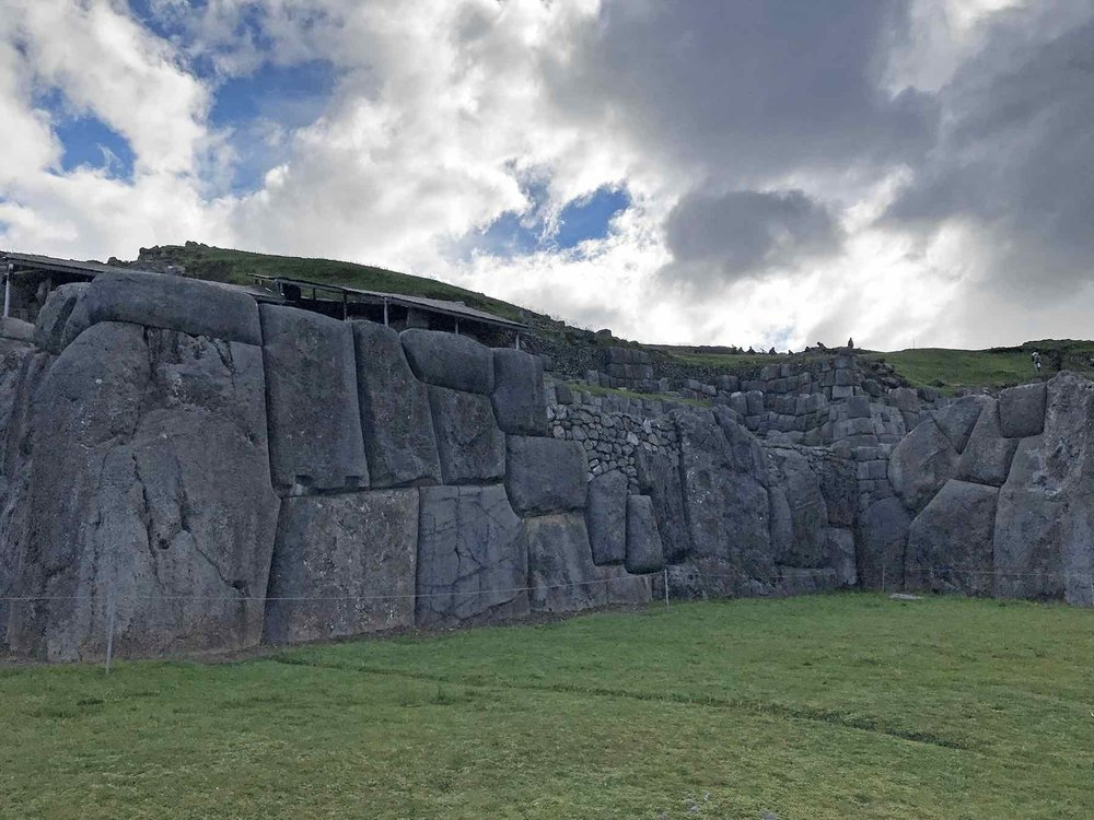 perfectly chiseled stone blocks at Sacsayhuaman Inca ruins Sacred Valley Peru
