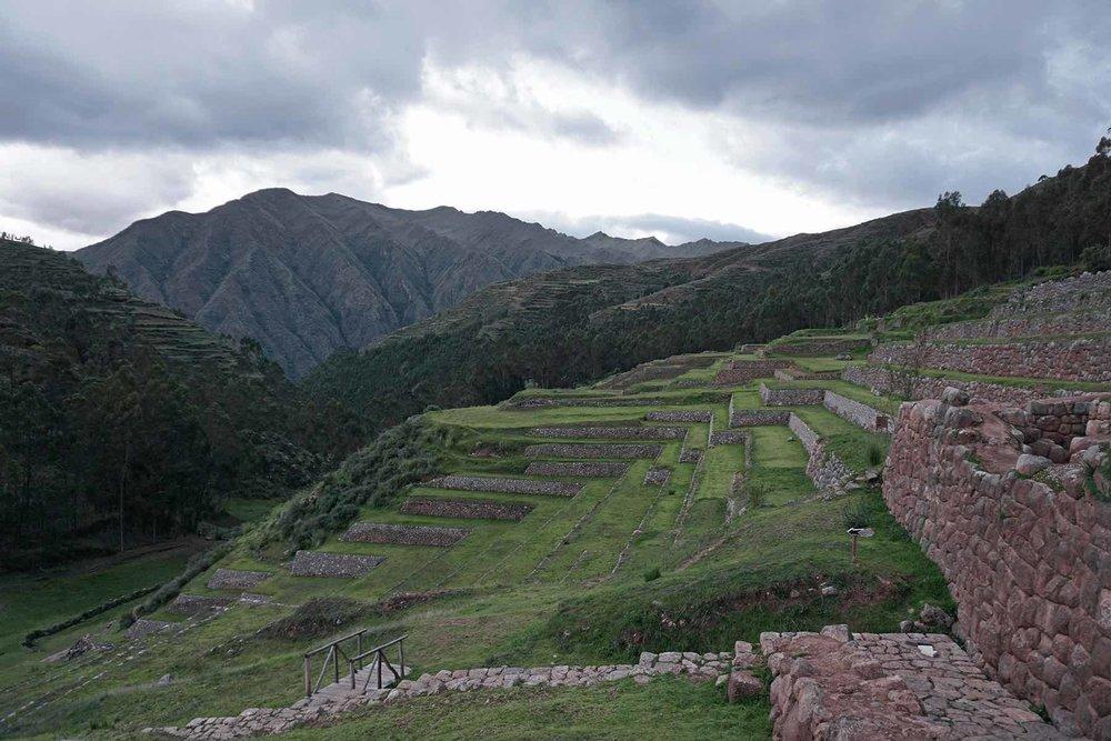 Sacred Valley Peru Chinchero Inca ruins