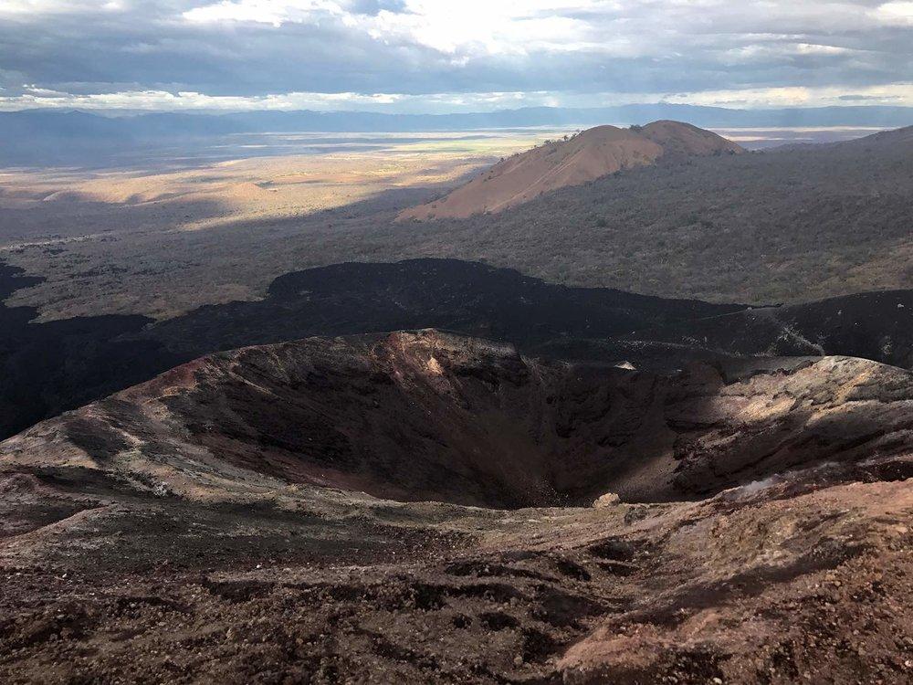 heat from Cerro Negro | Volcano boarding Nicaragua
