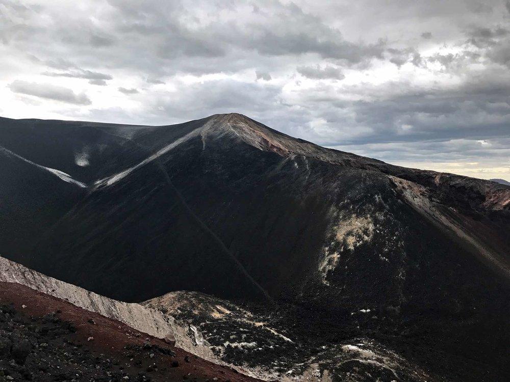 black sand at Cerro Negro | Volcano Boarding in Nicaragua