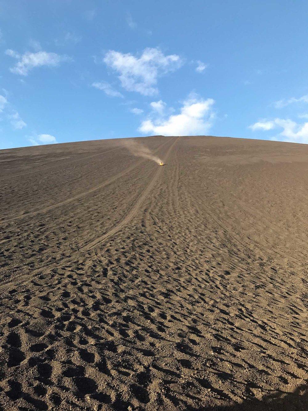 sliding down Cerro Negro | Volcano boarding Nicaragua
