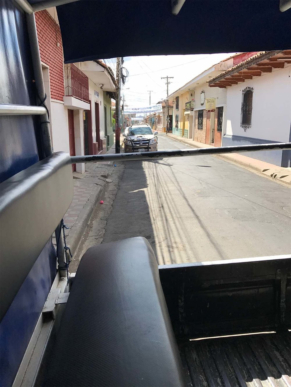 vehicle for volcano boarding in Nicaragua