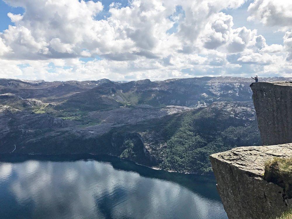 Hiking Preikestolen, Norway  .