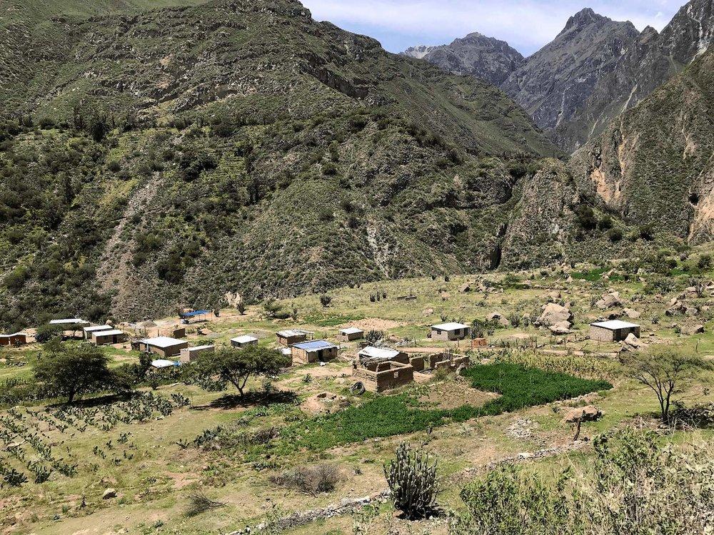 Colca Canyon Peru town