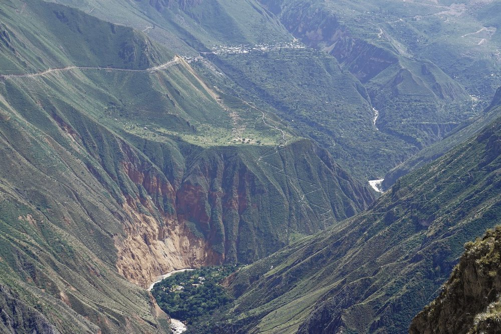 Colca Canyon Peru Sangalle town