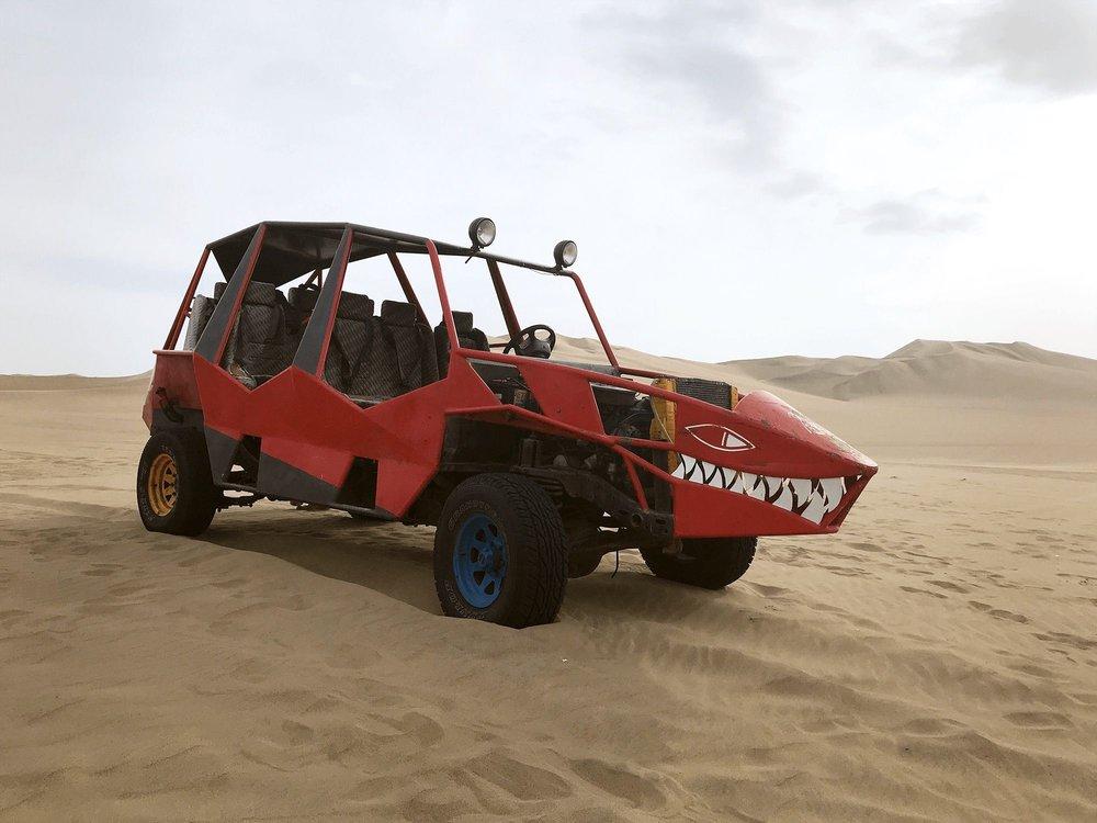 Huacachina sand dune buggy