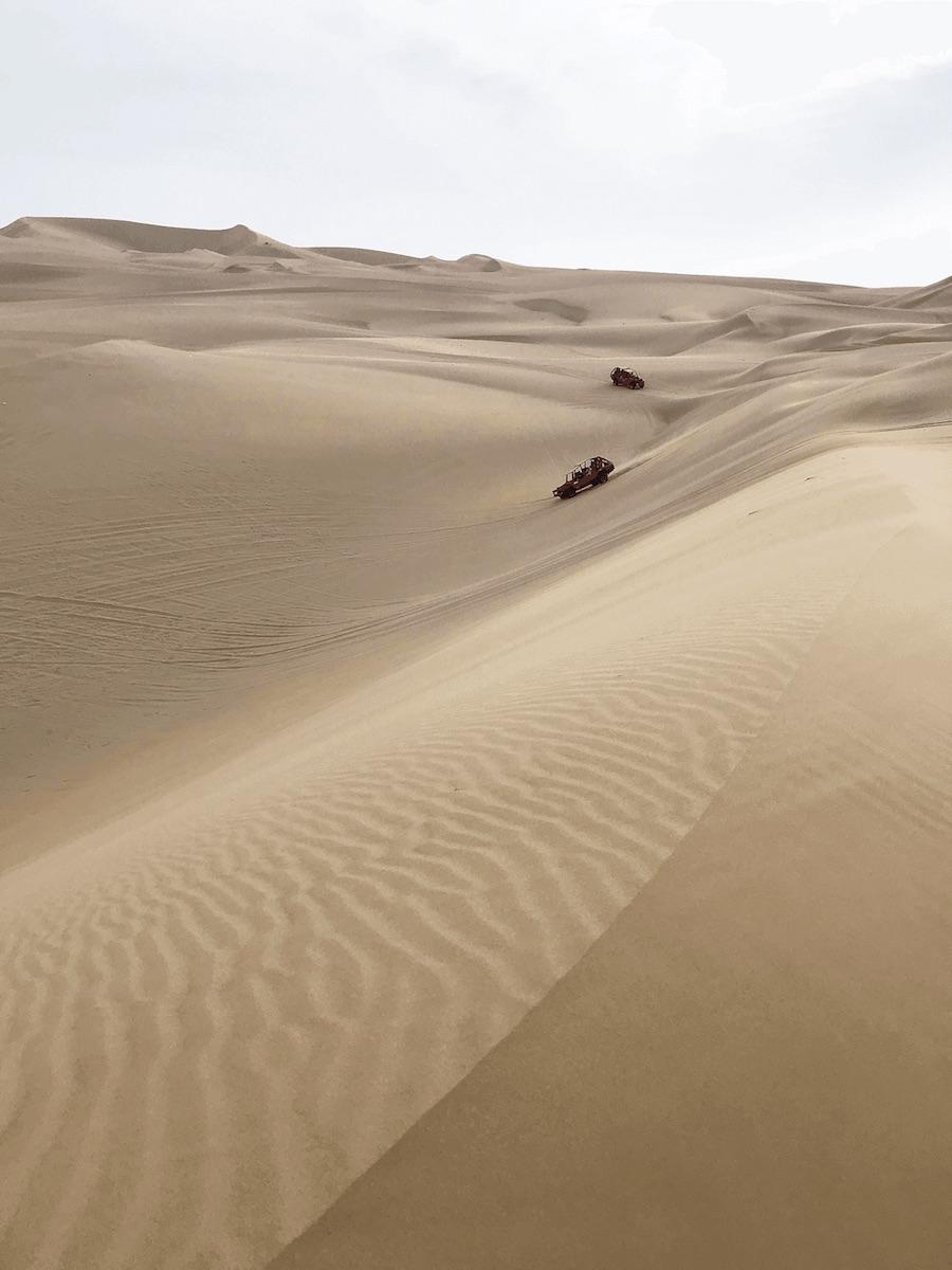 Huachina desert sand dune buggies
