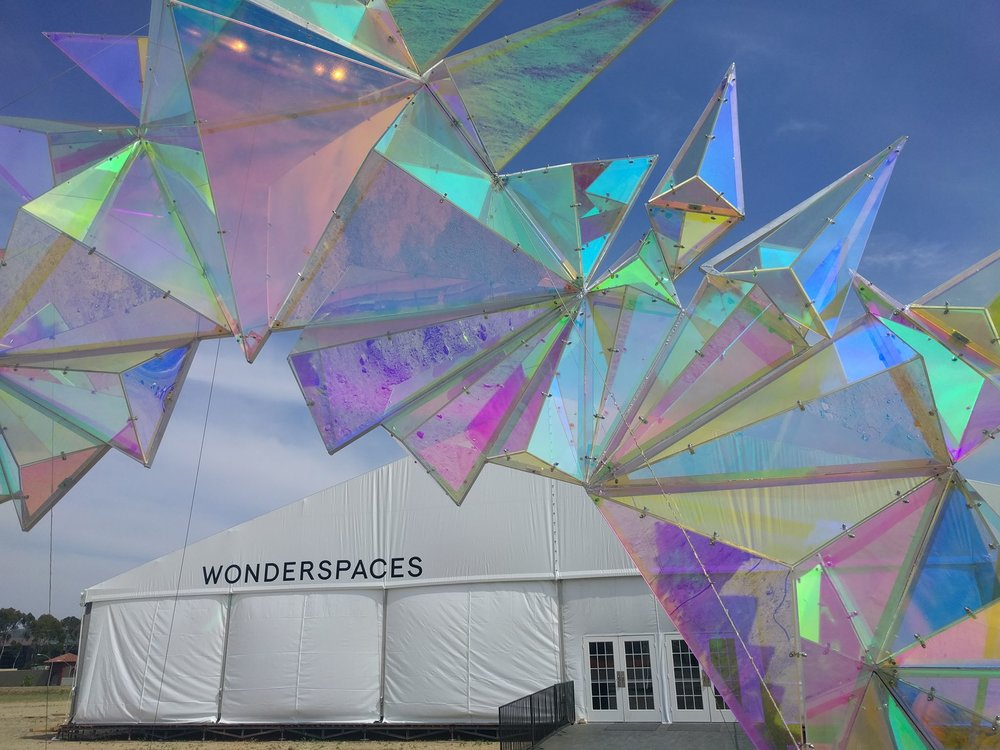 Wonderspaces pop up art gallery San Diego entrance