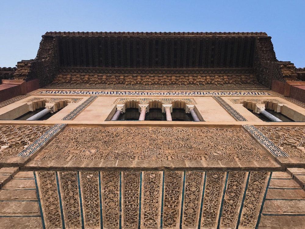 Alcazar Seville Spain palace facade