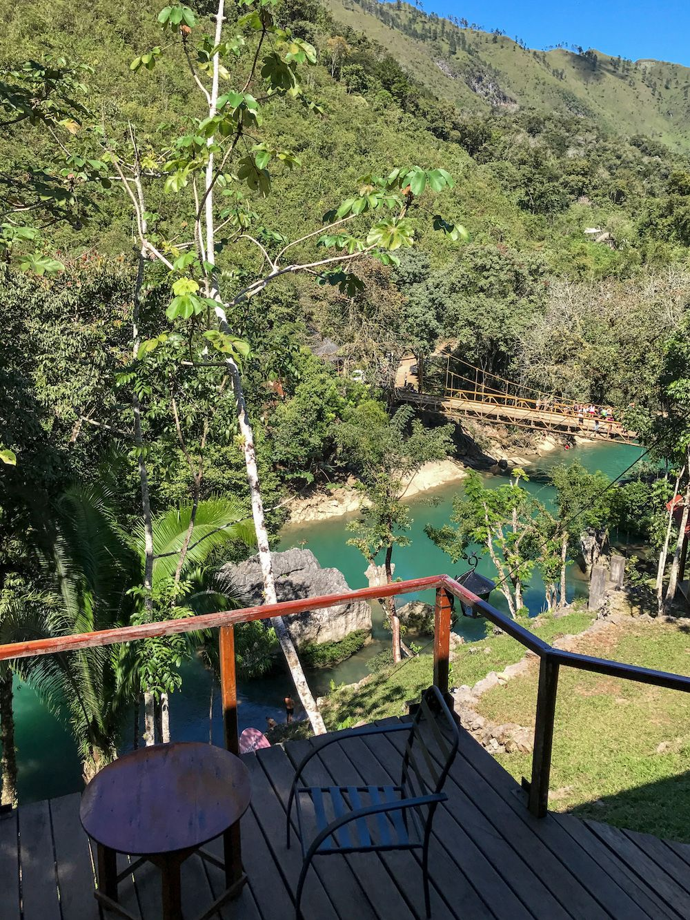 Semuc Champey river dining terrace