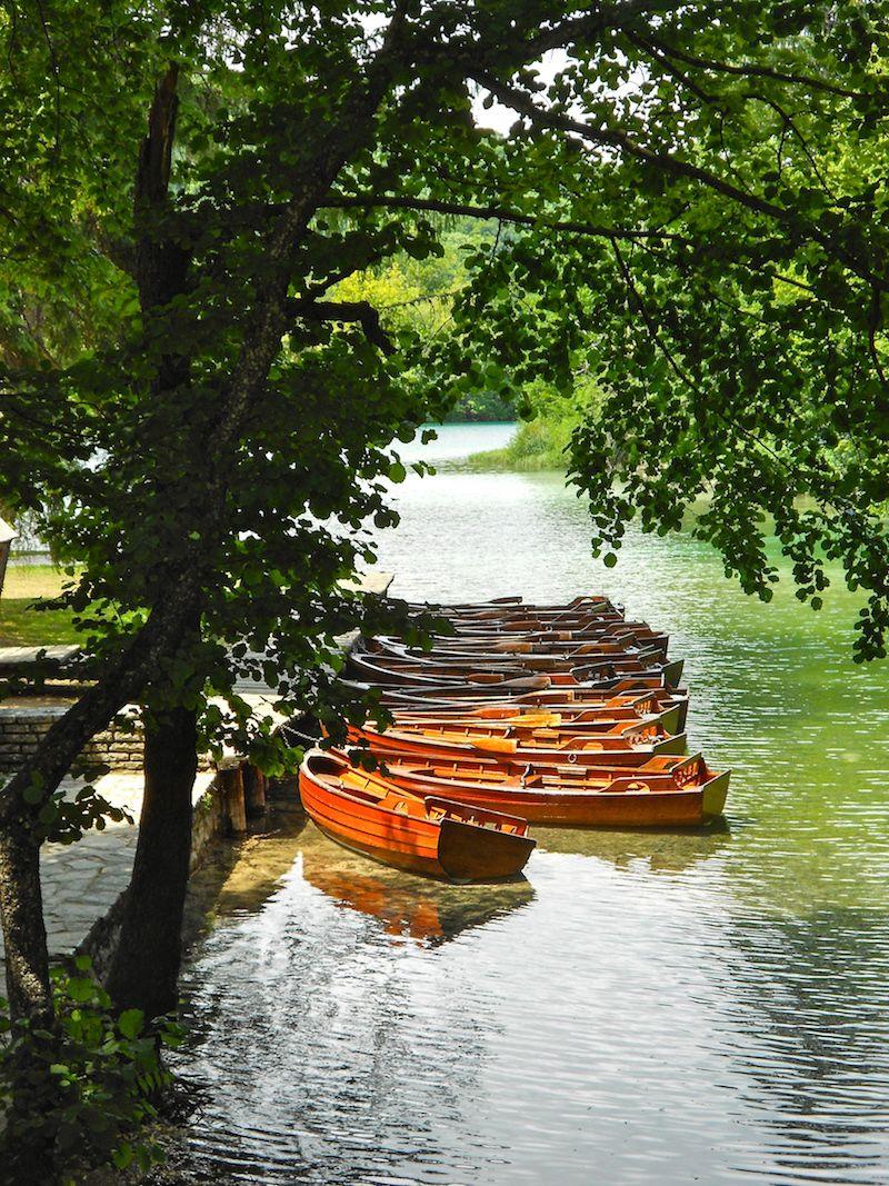 Plitvice Lakes National Park Croatia boats