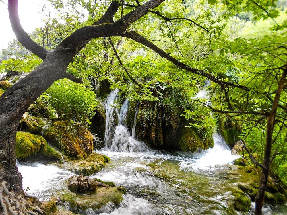 small waterfall in Plitvice Lakes Croatia