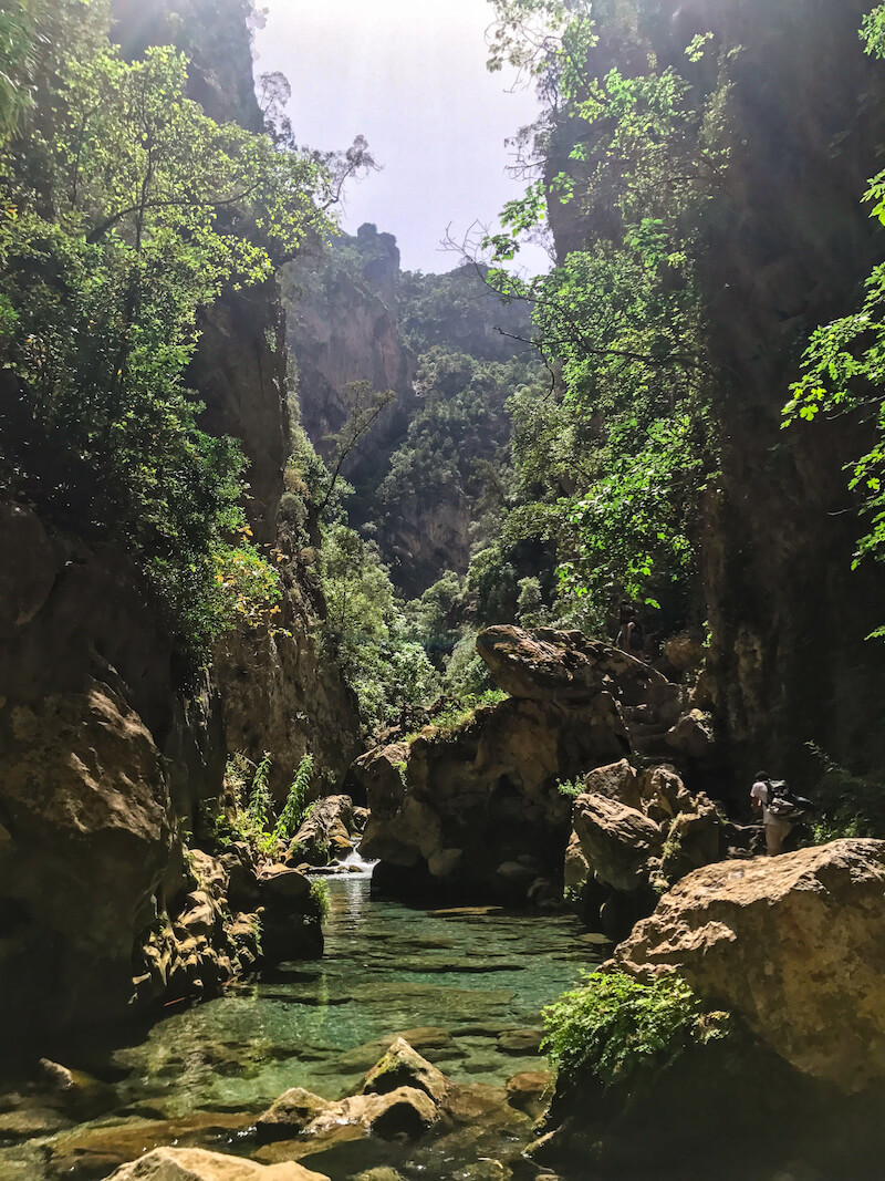 Canyoneering through Akchour river | Hiking in Morocco
