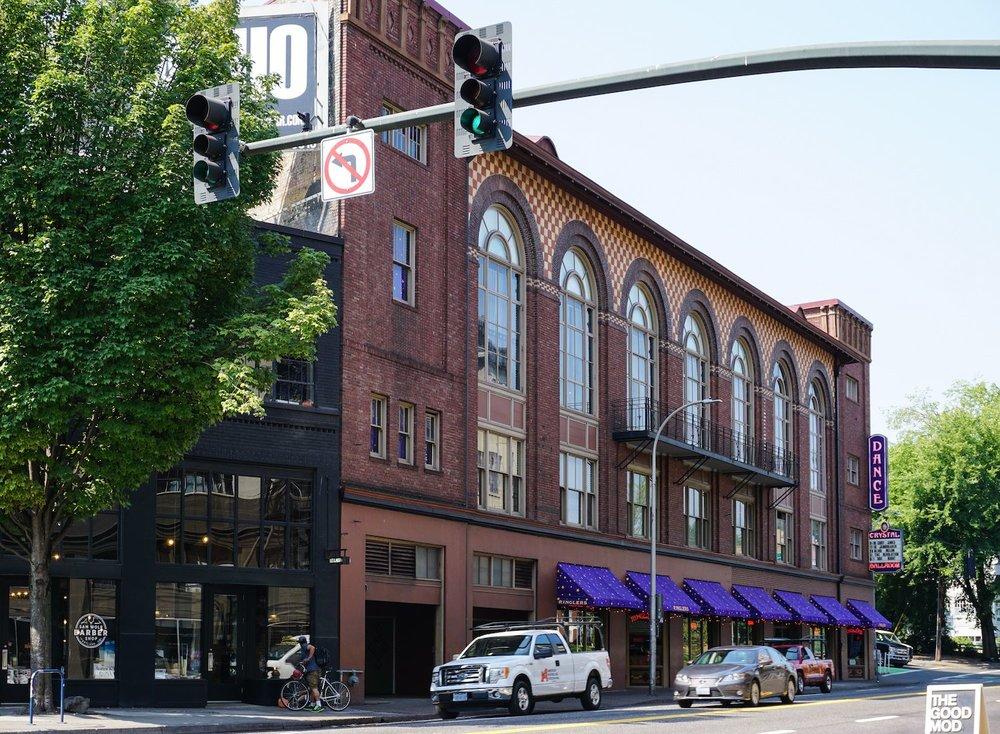 The historic Crystal Ballroom and Dance Hall