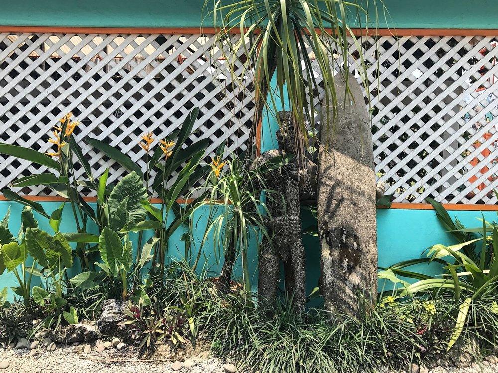 Puerto Viejo Costa Rica blue building