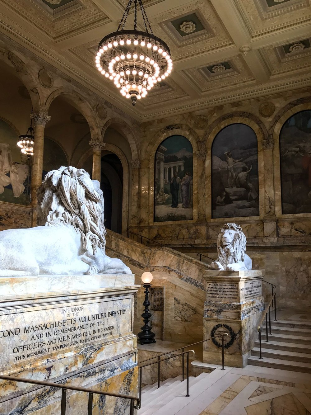 Boston Public Library stairs
