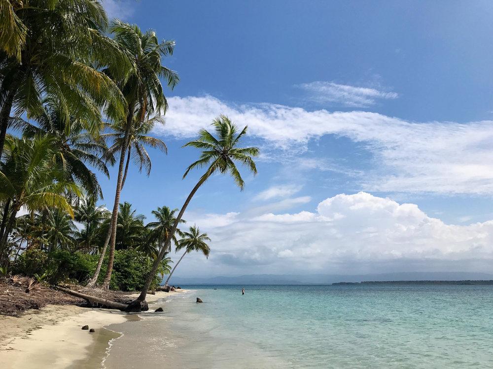 CLean   Beach in Bocas del Toro, Panama