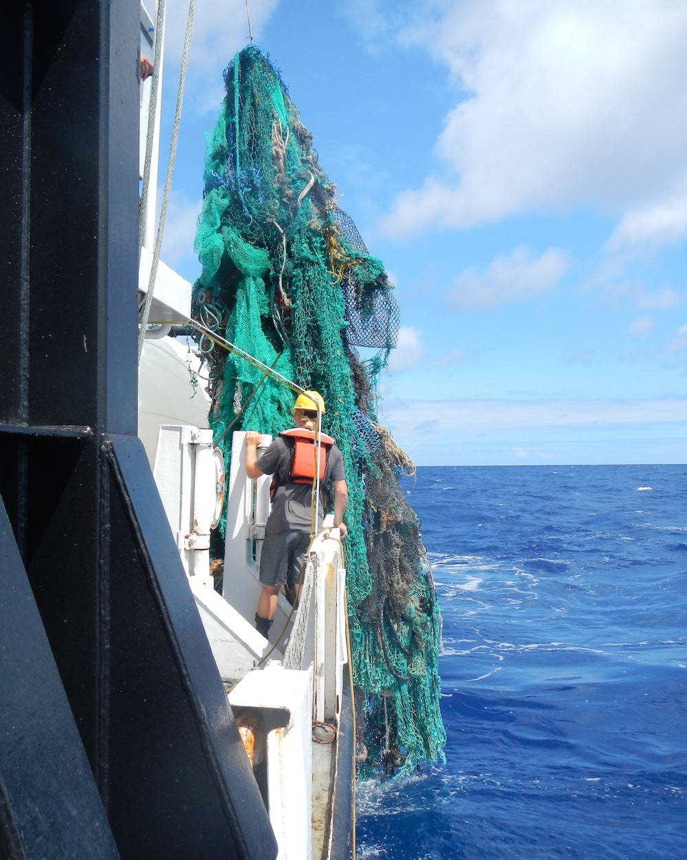 """ghost Gear"" plastic waste. Source   The Ocean Cleanup"
