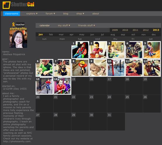 photo-a-day calendar