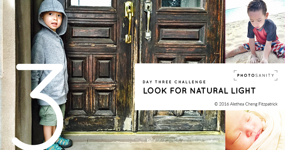 Do you find your photos fail to capture what you experienced in the moment? Today's challenge to look for natural light will help.