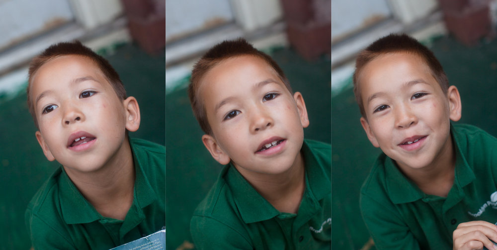 "In this series of ""first day of school"" photos you can see Liam's expressions come to life as I engage with him to ask him what he is most excited about for second grade (yes, these are DSLR photos but the same principle applies with smartphone photos)."