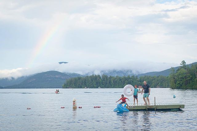 And then there was a rainbow. . #photosanity #resiliencethroughjoy #womensleadership #womensleadershipcoach #photographycoach #parenting #motherhood #momlife #workingmomlife #nineyearsold #sixyearsold #lakesideliving #ilovevacation #ilovesummer #ilovemylife #ilovemykids #capturethemoment #bepresent #gratitudedaily #loveisresistance