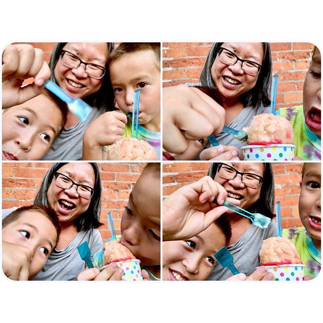 And then the kids attacked my gelato while I tried to take a selfie. . #photosanity #resiliencethroughjoy #womensleadership #womensleadershipcoach #photographycoach #parenting #motherhood #momlife #workingmomlife #nineyearsold #sixyearsold #brooklynlife #ilovenyc #ilovebrooklyn #ilovemylife #ilovemykids #capturethemoment #bepresent #gratitudedaily #loveisresistance