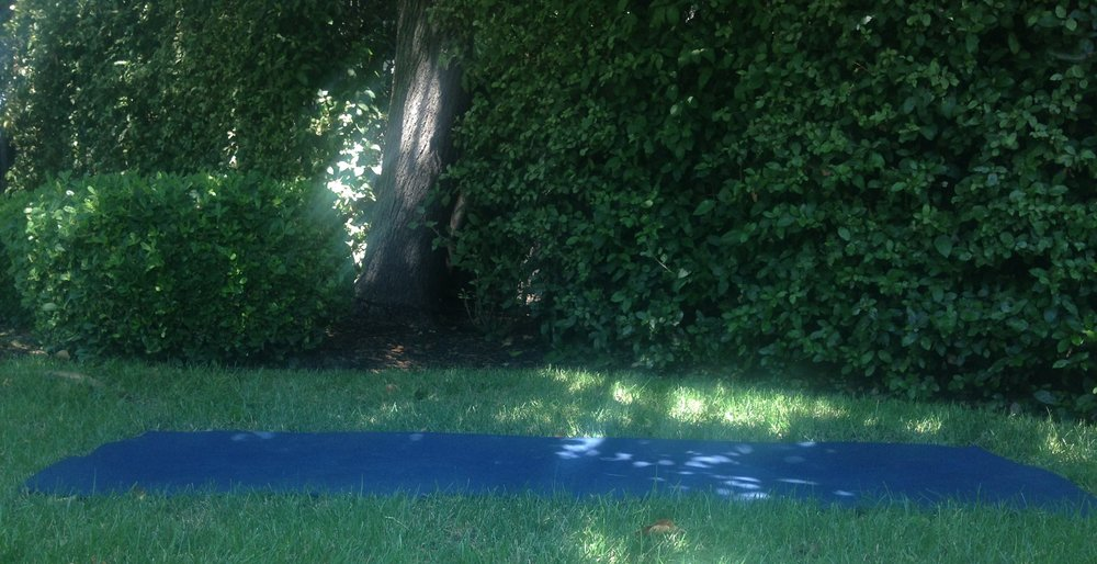 Find a shady spot outside to practice while on vacation