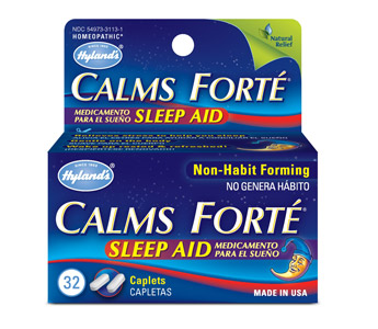 CALMS FORTE SLEEP AID. SAFE FOR CHILDREN. WORKS FOR ADULTS.