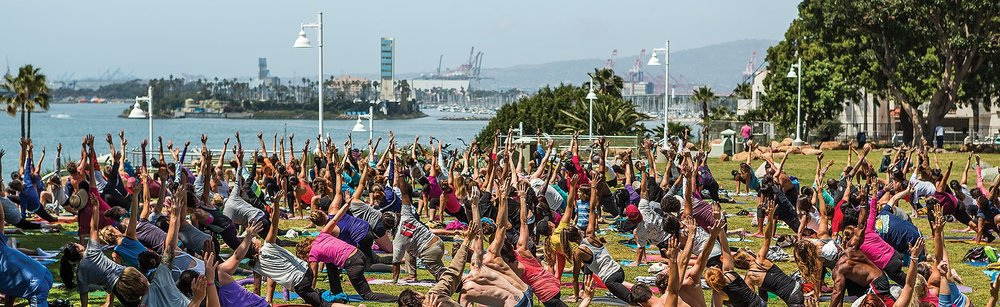 YOGA ON the bluff in long beach, ca