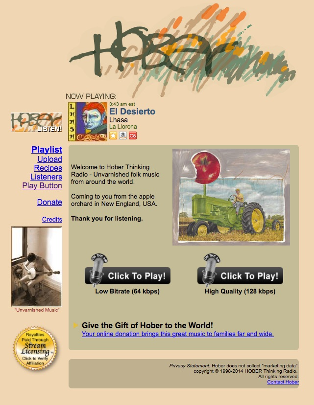#playlist - Hober Thinking Radioc/o Isle of EiggScotland ~ 2010