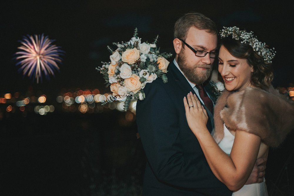 alternative wedding photographer night portraits