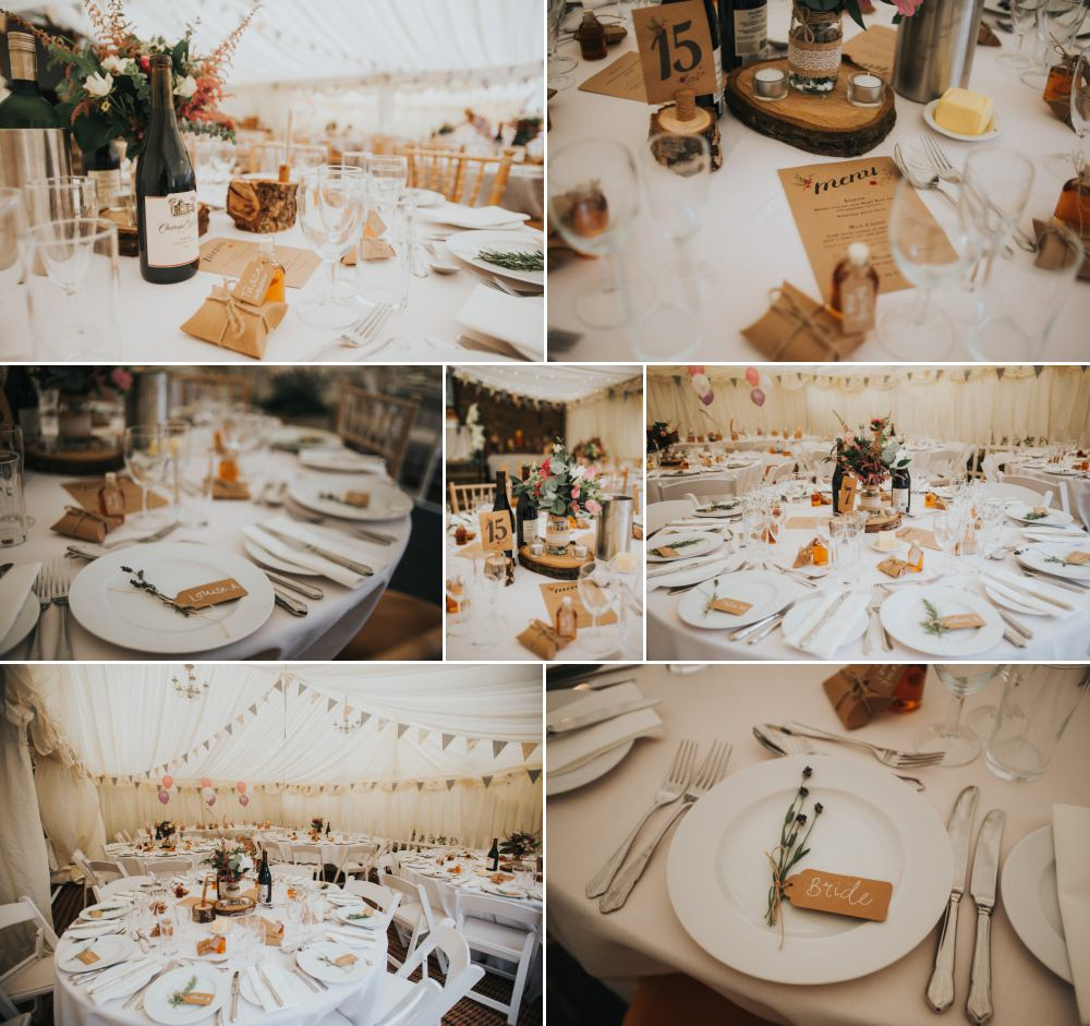 cute marquee wedding details