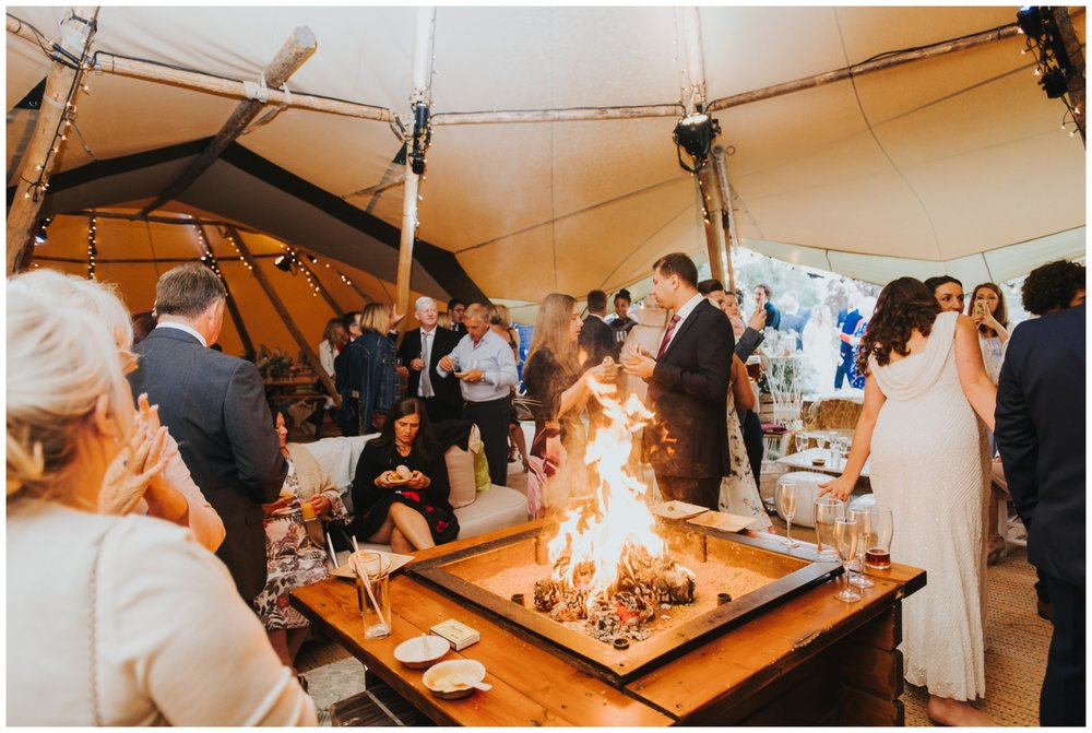 street food at chilled out wedding