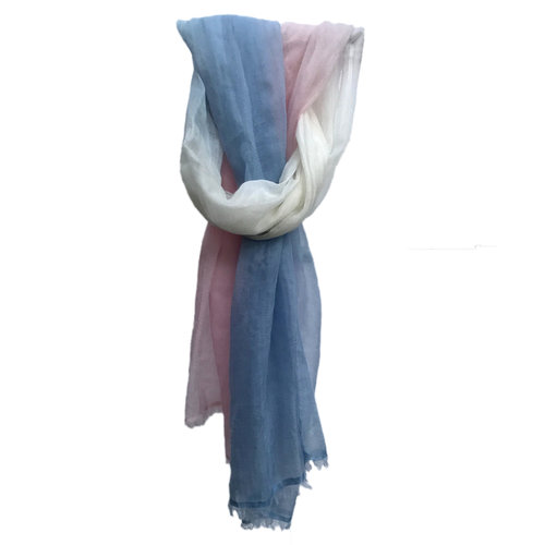 91267e05745 Glass Shawl - Vertical ombre - Pink / White / Blue — Arrivals Gate