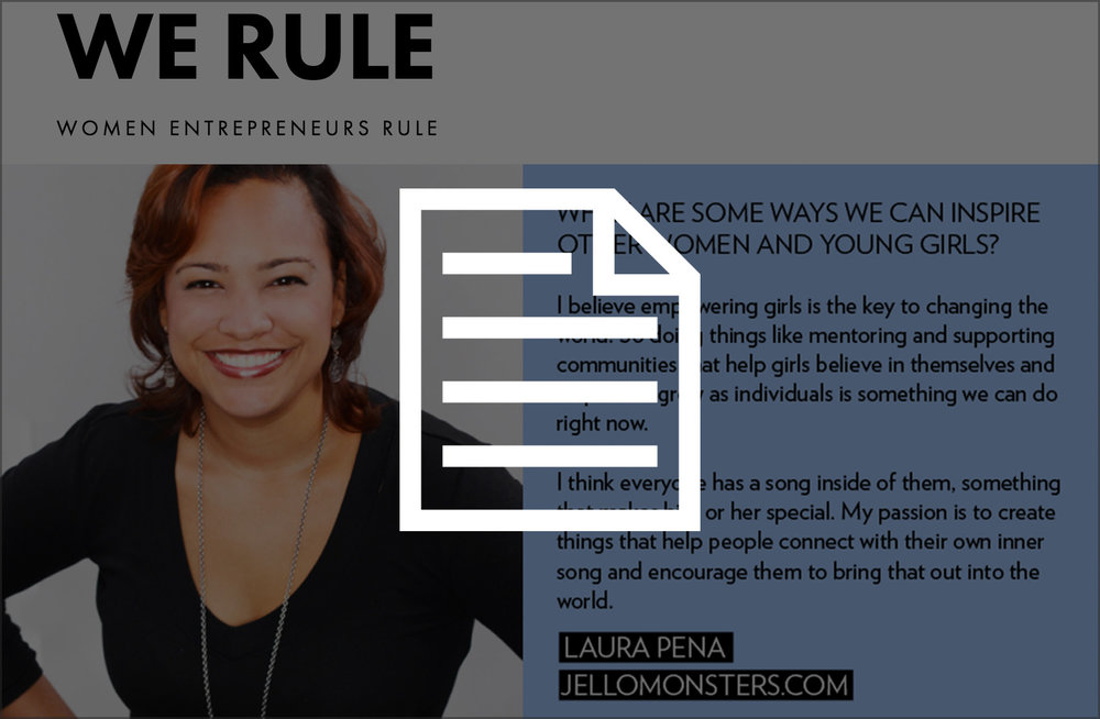 Interview for We Rule  A global community of female entrepreneurs, mentors and investors who are on a mission to build successful, lasting and diverse businesses.
