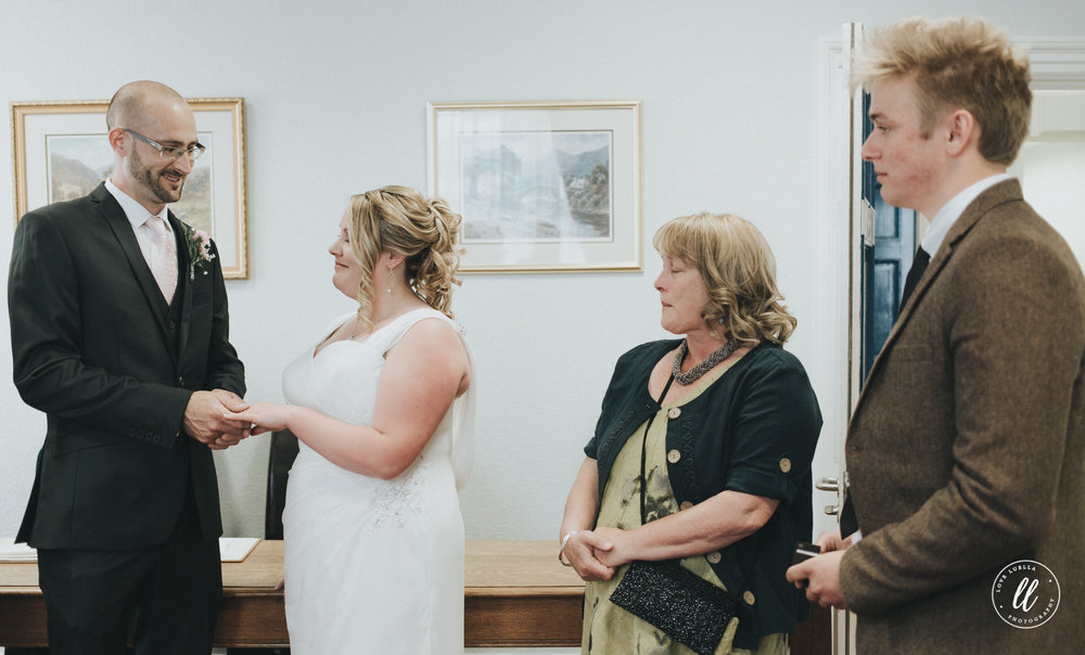 Wedding ceremony photography at llandudno town hall, north wales