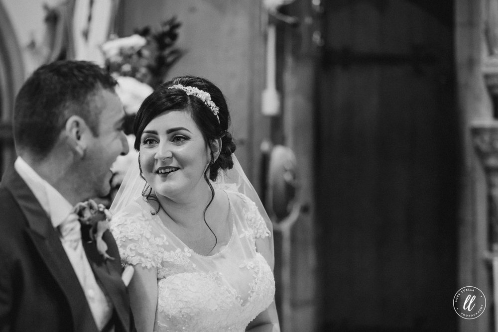 The first look between Vicky and Dan at Pantasaph Friary